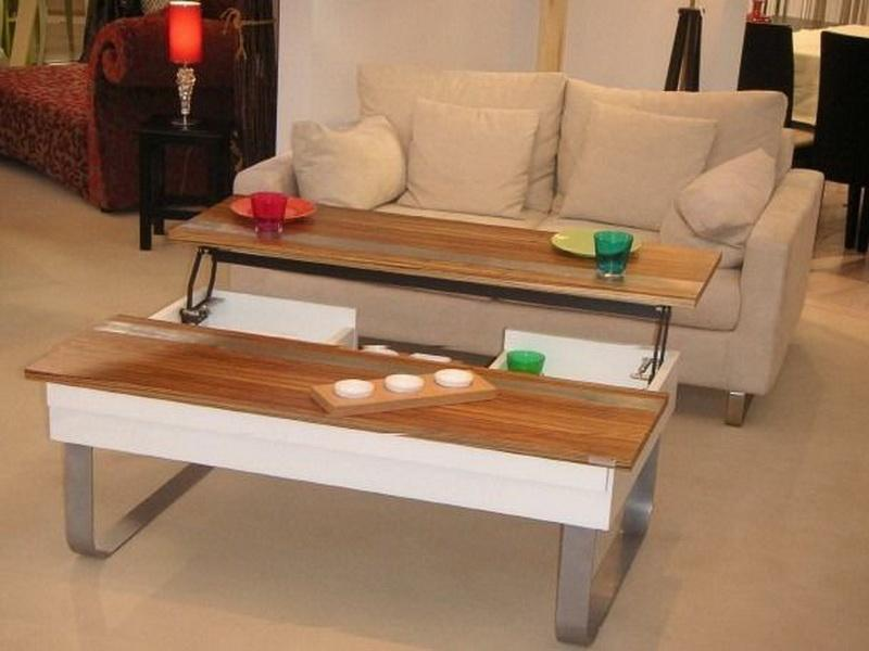 modern adjustable height coffee table