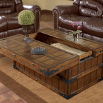 Multifunctional Rustic Wood Coffee Table