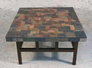 Photo Gallery Of The Square Slate Coffee Table