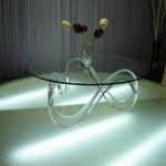 Ornate Acrylic Coffee Table
