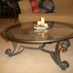 Ornate Wrought Iron Coffee Table