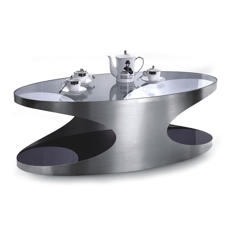 Oval Metal Coffee Table