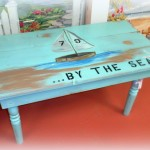 Painted Coffee Table Inspied by Sea