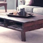 Pallet Coffee Table with Small Feet