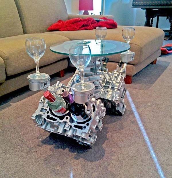 Charming Practical Engine Coffee Table Image And Description