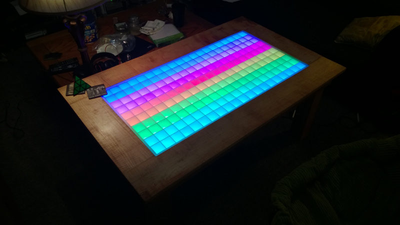 RGB Led Coffee Table