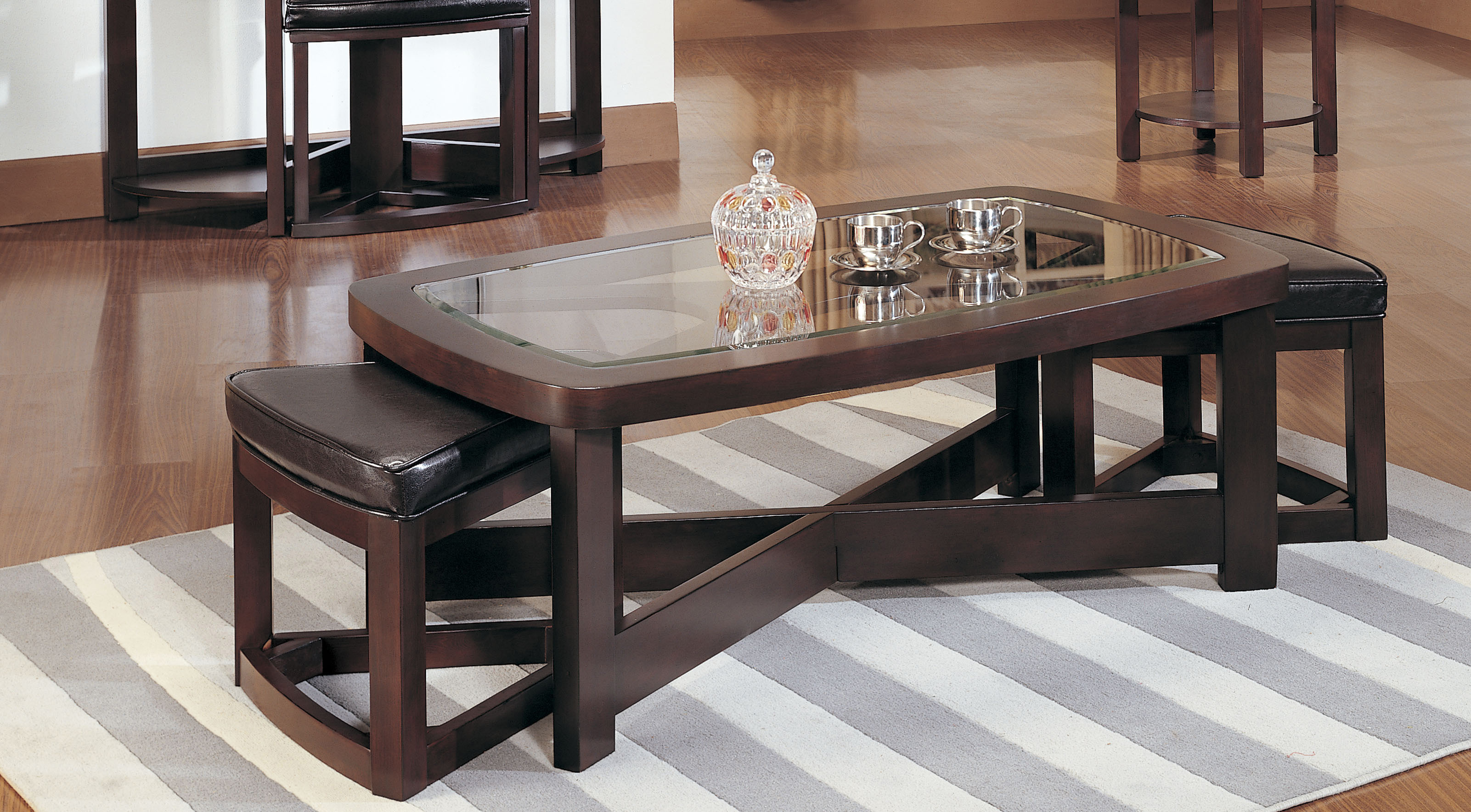 Rectangular Coffee Table Set