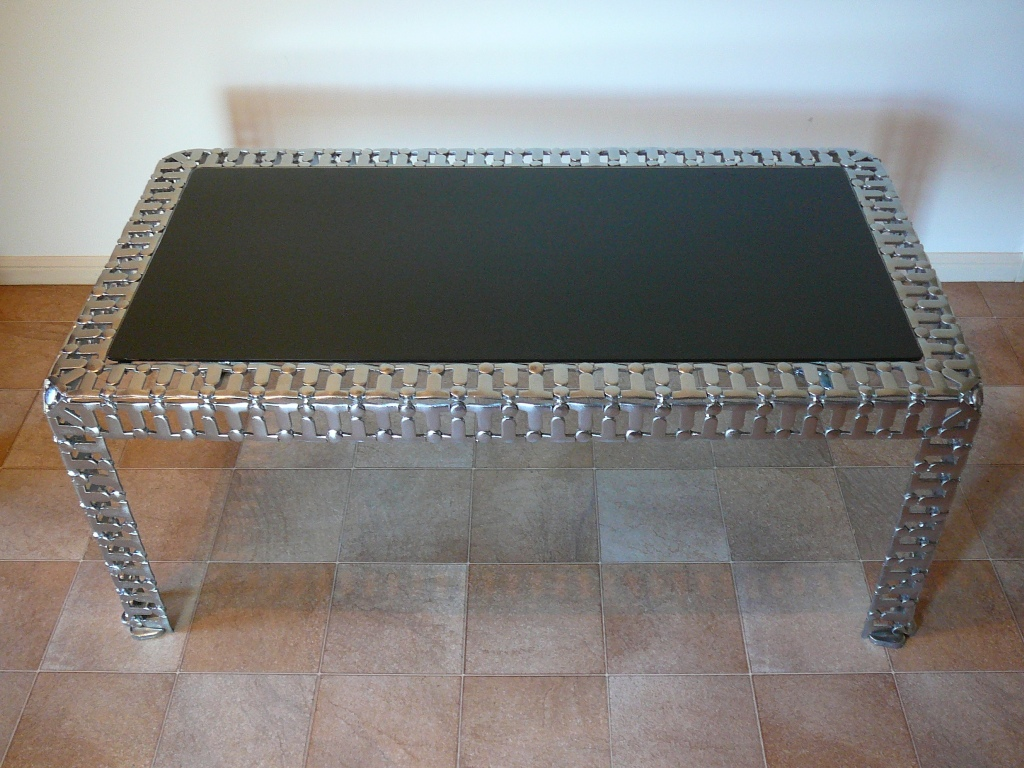 Recycled Metal Coffee Table