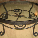Round Wrought Iron Coffee Table