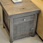 Rustic End Table in Grey