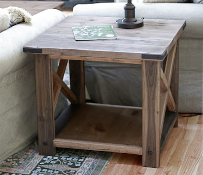 Rustic End X-Table