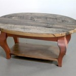 Rustic Oval Coffee Table