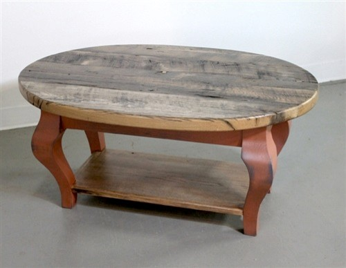 Rustic Oval Coffee Table Tables