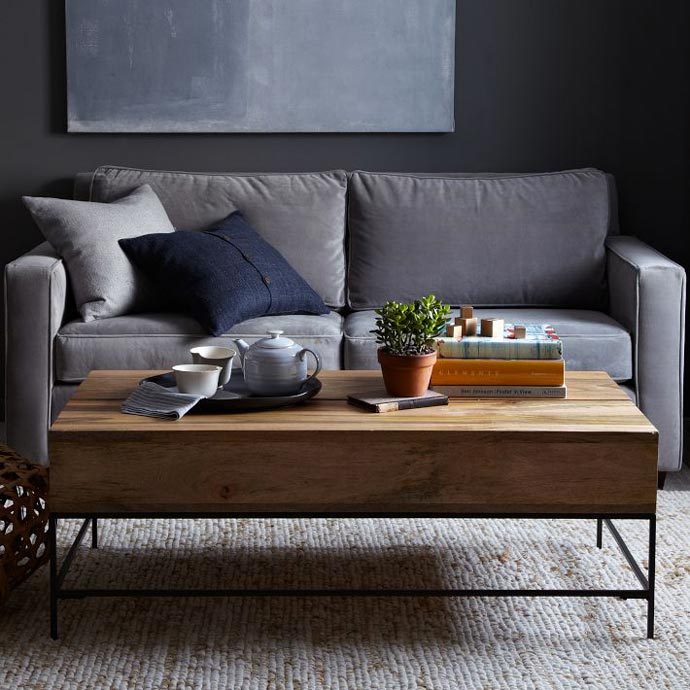 Rustic Storage Coffee Table Image And Description