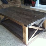 Rustic Wood X-Coffeetable