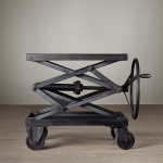 Scissor Lift Metal Coffee Table