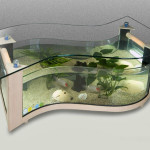 Shaped Aquarium Coffee Table