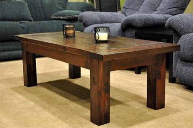 Simple Rustic Wood Coffee Table