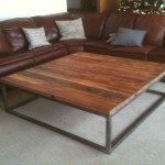 Simple Wood and Metal Coffee Table