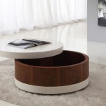 Small Round Coffee Table with Storage