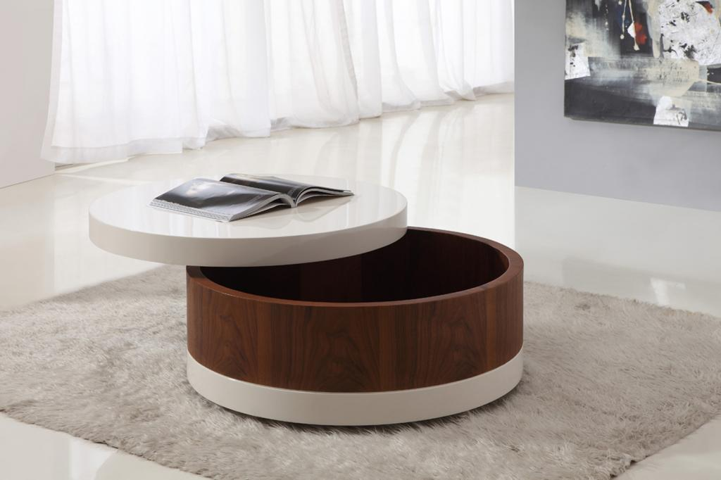Small Round Coffee Table With Storage Image And Description