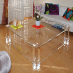 Split Level Acrylic Coffee Table