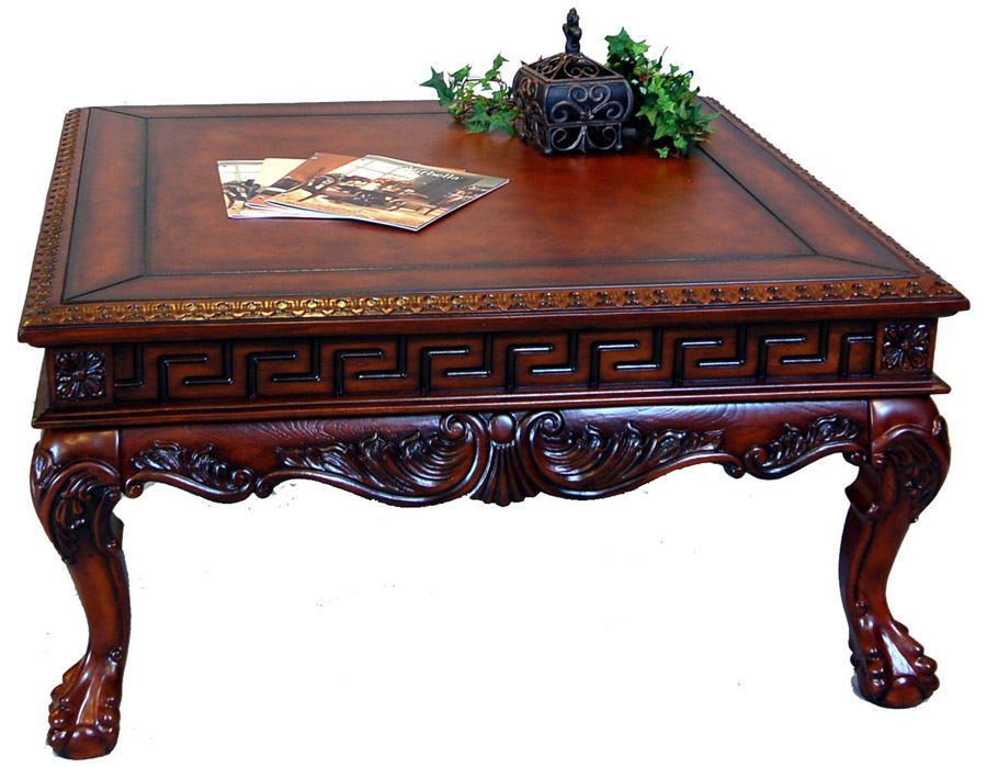 Ordinaire Square Antique Coffee Table Image And Description