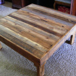 Square Rustic Wood Coffee Table