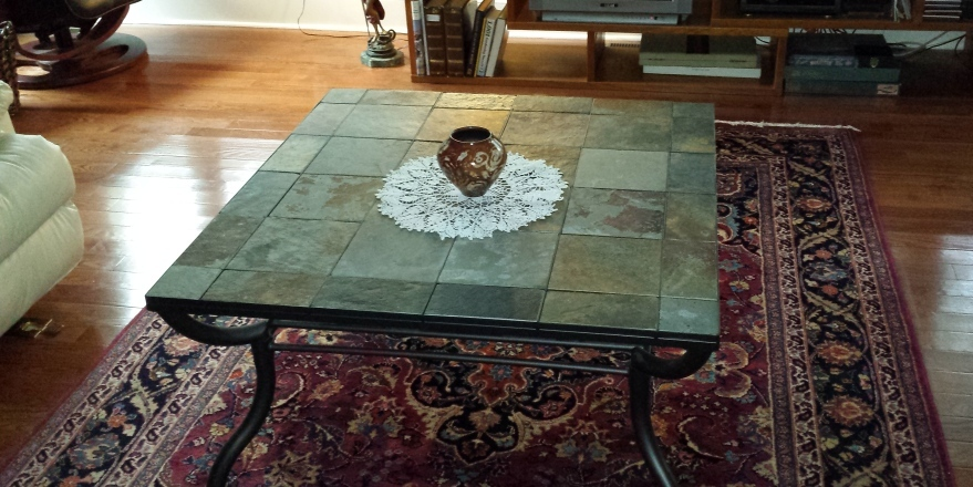 Square Slate Coffee Table Image And Description