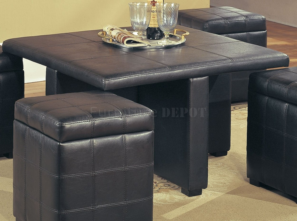 both leather storage with for table style trays classic and modern coffee