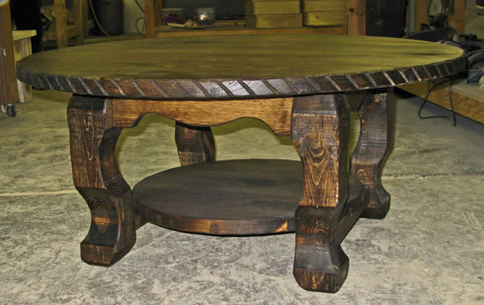 Western Rustic End Table