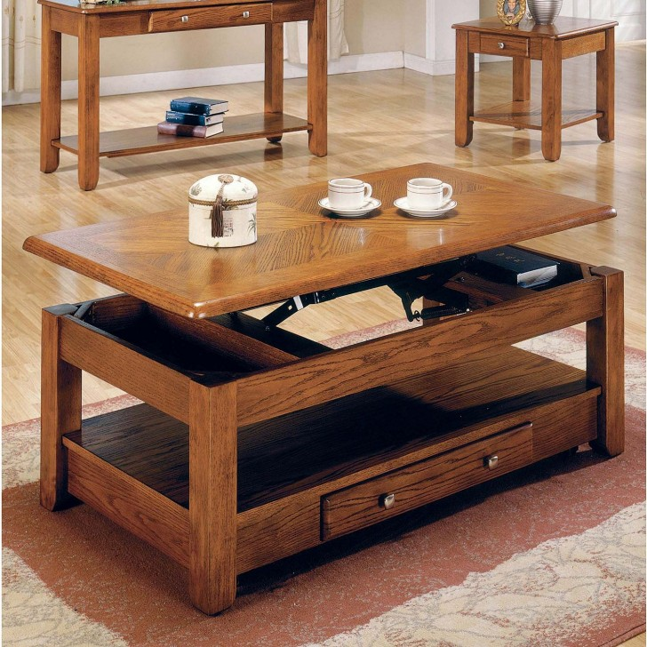 Wood Convertible Coffee Table