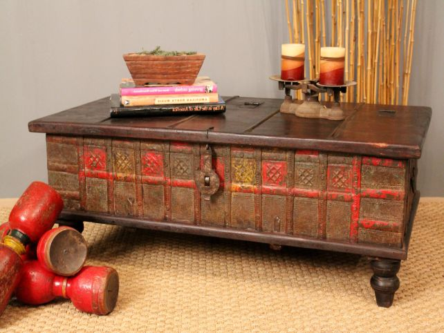 Merveilleux Antique Chest Coffee Table Image And Description