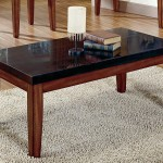 Black Granite Coffee Table
