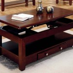 Cherry Wood Coffee Table with Lift Top