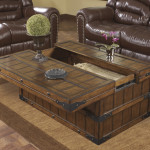 Chest Coffee Table with Moveable Top