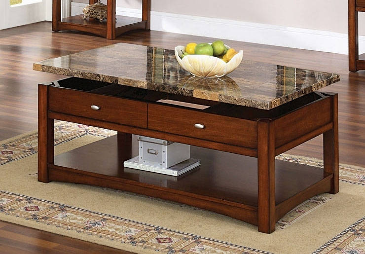 Coffee Table With Lift Granite Top Image And Description