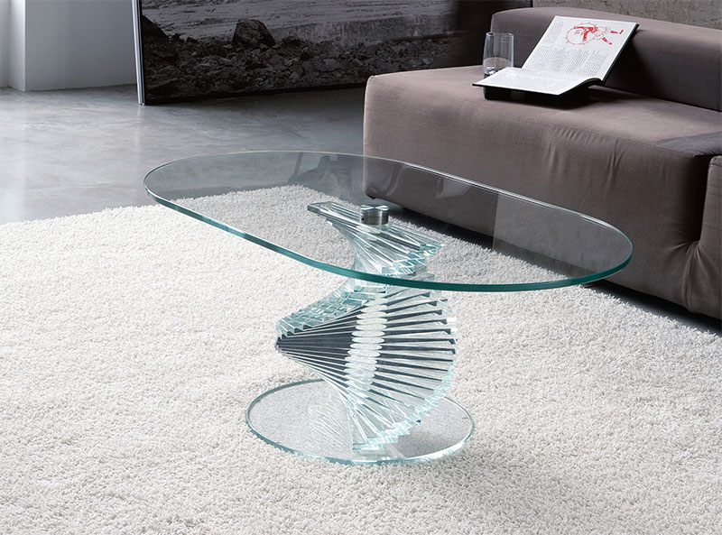 Design for Modern Glass Coffee Table