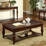 Double Cherry Wood Coffee Table