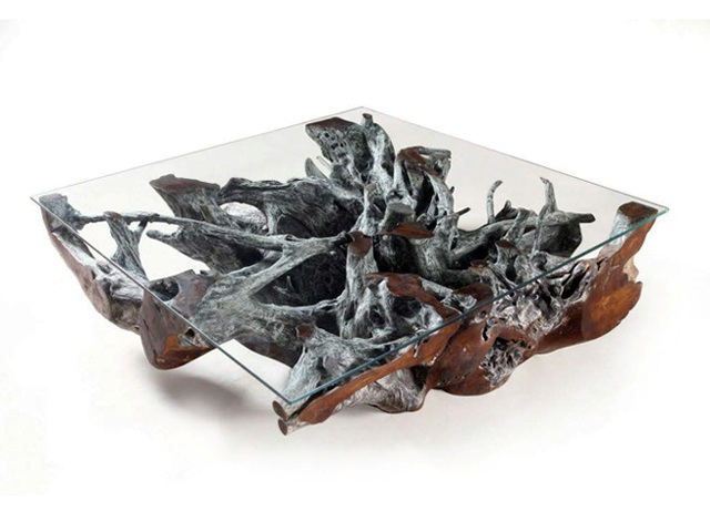 Ethically Sourced Teak Root Coffee Table