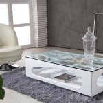 Idea for Modern Glass-Top Coffee Table