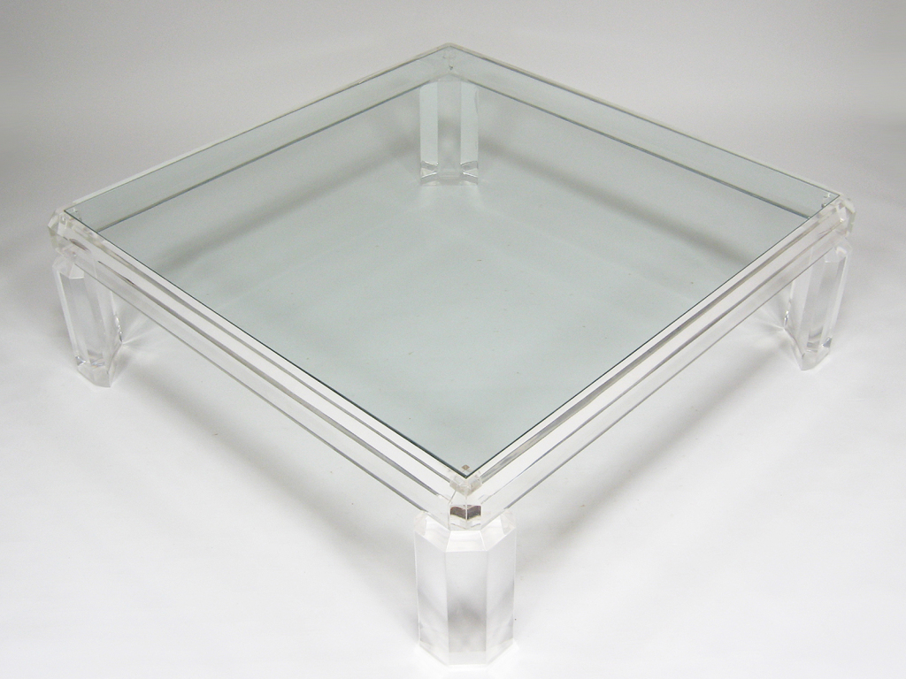 Beau Large Lucite Coffee Table Image And Description