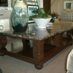 Long Rectangle Granite Coffee Table