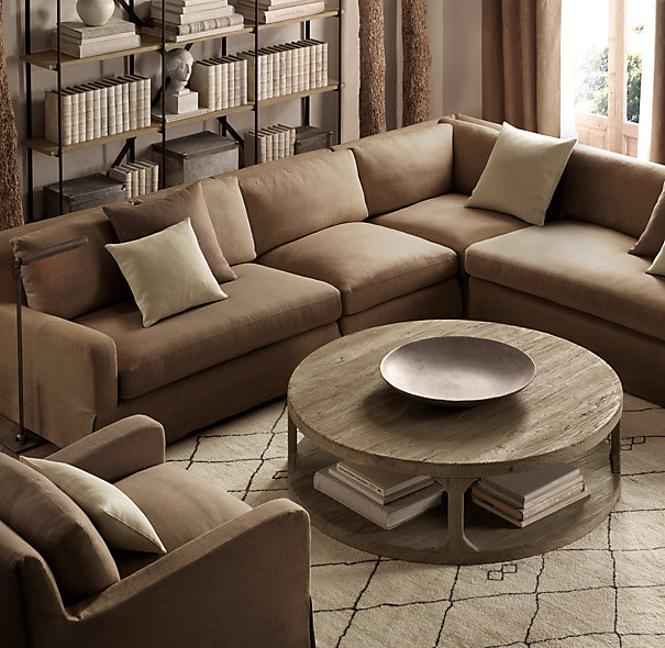 Restoration Hardware Round Coffee Table