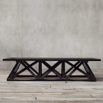Restoration Hardware Trestle Coffee Table