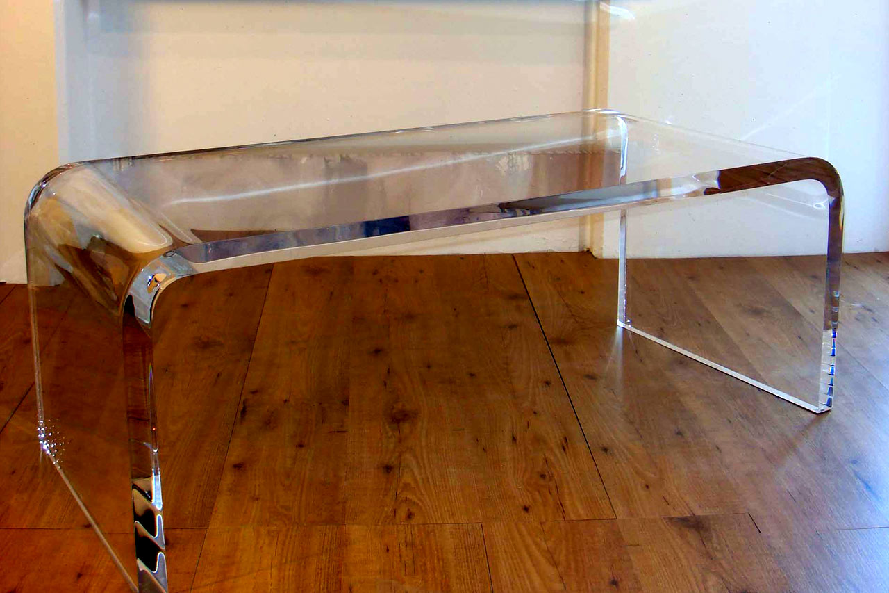Small Lucite Coffee Table Image And Description