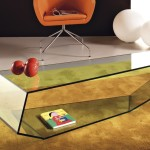 Special Form Modern Glass Coffee Table