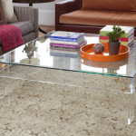 Square Lucite Coffee Table