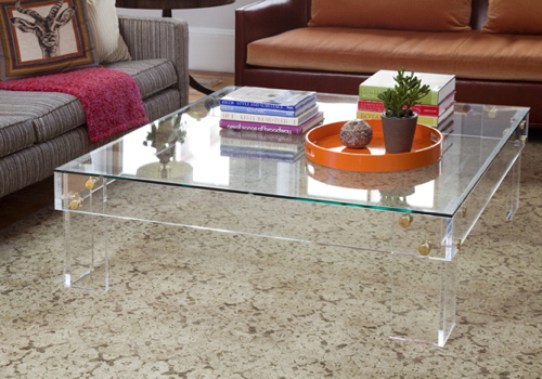 Square Lucite Coffee Table Tables