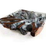 Teak Root Coffee Table Finished in Grey